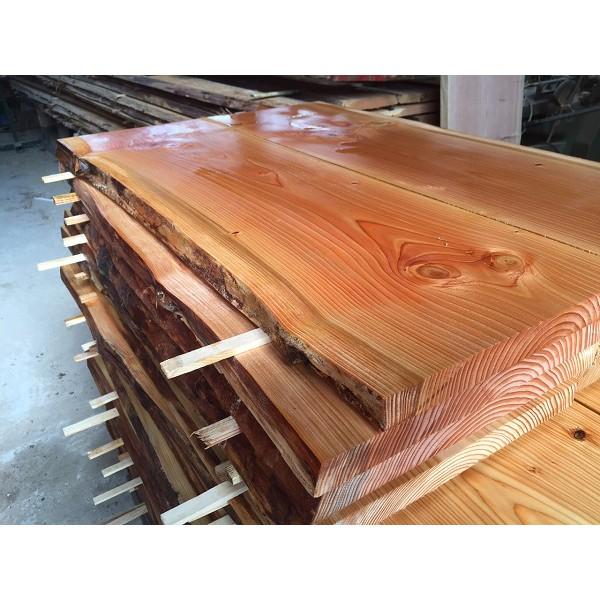 Lärche, Baumscheibe, Tischplatte, Gartentisch, Bohlen für Eigenbau, rustikal, 195x70x3,5cm