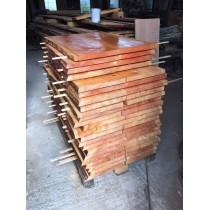Baumscheibe, Tischplatte, Gartentisch, Bohlen für Eigenbau, rustikal, 120x75x3,5 cm